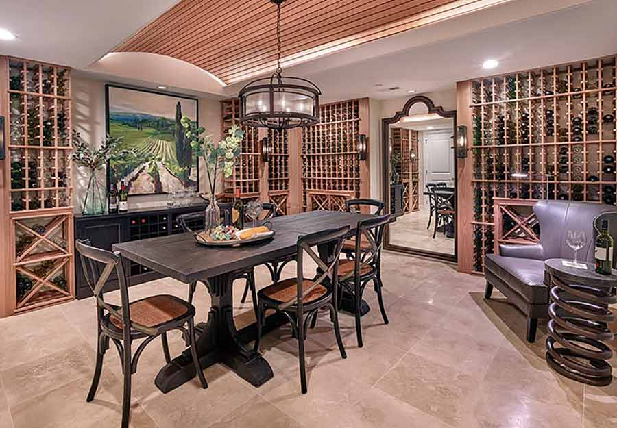 wine cellar floor project